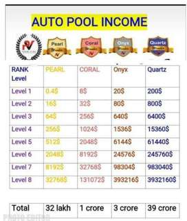 Income 32 lakh non working (autopool) income in 3 to 5 years .