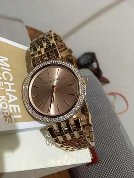 Michael Kors_Women's Darci Crystal Bezel Rose Gold-Tone Watch MK3192