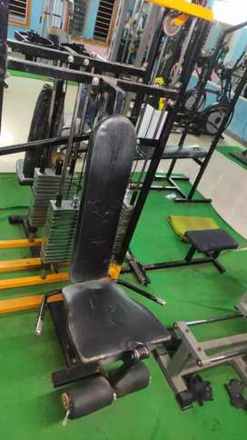 Gym equipment(Multi station), Dumbbells,Rods,Weights