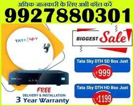 TATA SKY SET TOP BOX SALE STARTS@ Rs 999 only -TATASKY DISH AIRTEL D2H