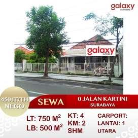 Disewakan Rumah 0 Jalan Kartini Tegasari, Surabaya