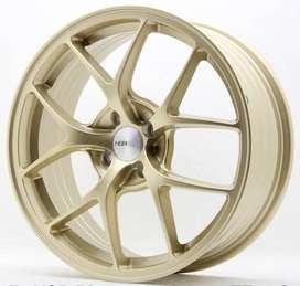 Velg F1 hsr ring17X7 H4X100 Et42 Gold R