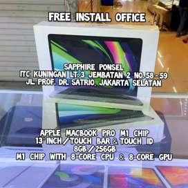 Ready Apple Macbook Pro M1 256GB Ssd(BNIB) -Bisa COD/Kredit