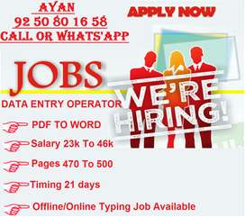 Work at your Flexible Time to Earn Your High Income with Typing Work