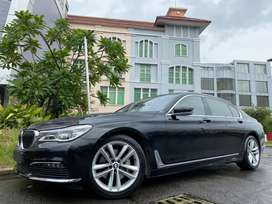 BMW 730i / 730Li Luxury 2017 Black 2TV Panoramic Km20rb ATPM Wrnty5Th