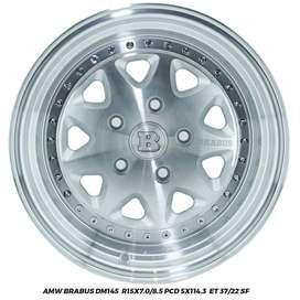 Jual Velg APV Luxio Ertiga AMW Brabus R15x7/8.5 hole 5x114.3 ET 37/22