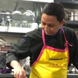 instruktur memasak ( chef berpengalaman )  jakarta barat + tangerang