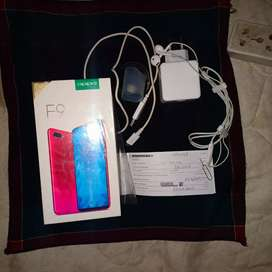Oppo f9 phone in good condition with grantey price 38000