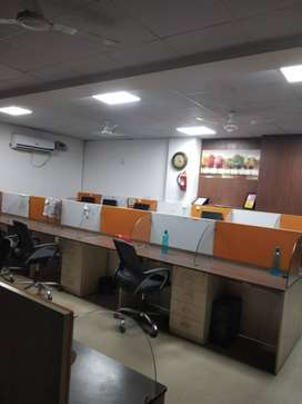 2700 sqft furnished office with 4 cabin confrence west Delhi 28 seat