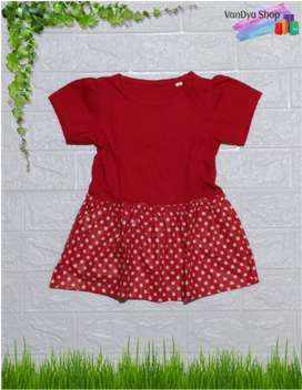 Dress Anak Kombinasi Kaos dan Katun Untuk Usia 2 Tahun