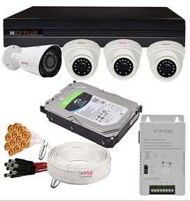 CP PLUS 2.4 MP CCTV 04 CAMERA SET @40% Discount