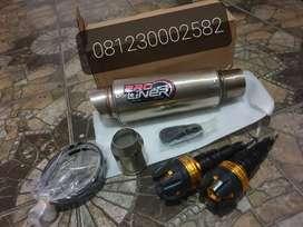 Knalpot Motor Proliner 1Set Universal (slenser only) + Frame Slinder