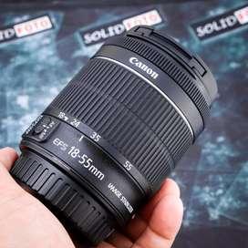 Canon 18-55mm IS STM. like new. lensa kit