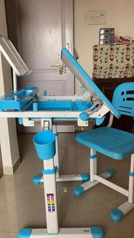 Adustable study table & chair