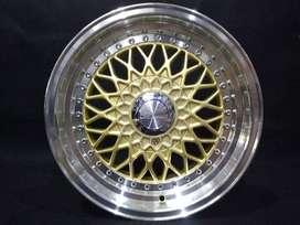 velg mobil model  rs jd71 ring 15x7-8 hole 4x100-114,3 et.35 gold