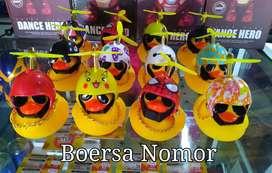 BONEKA BEBEK LED / Bebek Helm Kacamata Led / Emoji Bebek Led Baling