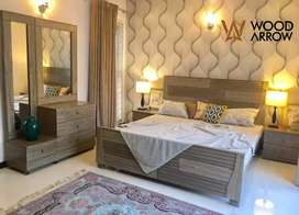 Business class bed set akhroat type complete bedroom furniture /dining