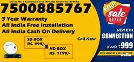 Tata Sky DTH Connectionl-Dish Tatasky D2H TV-COD India