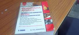 Newly RS Aggarwal Quantitative Aptitude book for sale