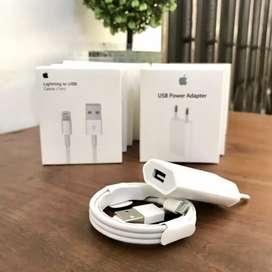 Fullset Aksesoris iPhone ( Headset & Charger iPhone)