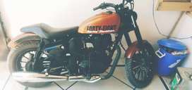 Royal Enfield  Bullet Classic Coustmised into Harley Davidson modified