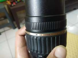 Lensa TAMRON AF 18-200mm siap pakai kondisi masih oke
