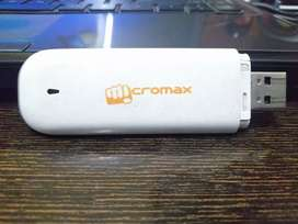 Micromax modem with memory card slot and Sim slot for all mobile sims