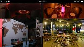 Bar and restaurant & banquet hall with license