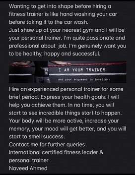 Personal trainer and fitness leader