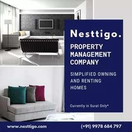 2bhk unfurnished flat for rent in vesu near sd jain