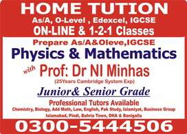 Home Tuition Get  A*/A in As/A&O level ,IGCSE,Edexcel,SAT,IELTS,