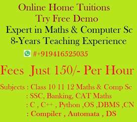Online Home Tuitions @ 150/- Per hour