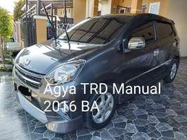 Agya TRD Sportivo Manual 2016 BA Km kecil istimewa