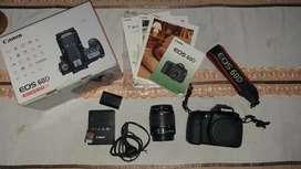 Jual Canon 60D kit 18-55mm, lengkap + masih ada box (nego)