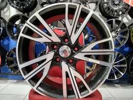 Jual Velg Mobil BMW, Landrover Ring 17 BAYERISKET HSR Black Machine Fa