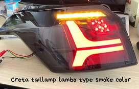 Creta led tail lights lambo style smoke edition