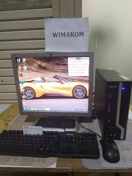 Paket PC UNBK ACER core i5 ram 8gb 500GB dvd LCD 17 bonus keymous WIFI