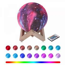 Lampu Tidur 3D Printed Moon Night Light Table Rechargeable Lamp 16