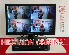CCTV HIKVISION MURAH PAKET PEMASANGAN 4CH 2.0MP BERGARANSI