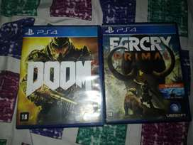 Ps4 games: Doom 2016 and Far Cry Primal