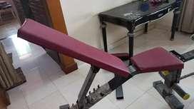 Folding gym bench
