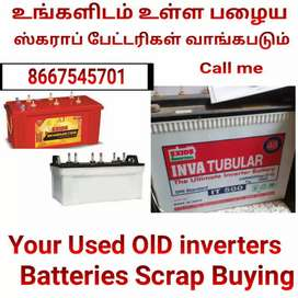 Your Used OlD inverters Batteries Scrap Buying call Me