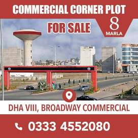 Corner 8 Marla Plot For Sale Phase 8 Commercial Broadway