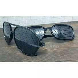 Kacamata Pinhole Terapi Rabun Jauh/Myopia u/ Memperbaiki Penglihatan