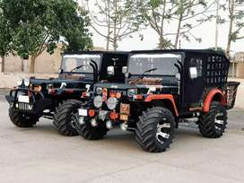 Hunter look modified black jeep