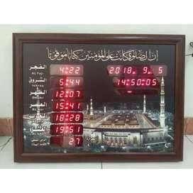 Jam Digital Azan Sholat Dinding Masjid Al Haram 35x50 Promo
