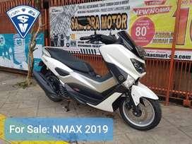 WOW [DP RINGAN] Nmax Non ABS Th 2019 Putih Pajak Hidup Siap Pakai