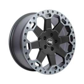 velg mobil HSR-BAHOROK-H-BW200-Ring-18x8-H5x1143-ET35-Matte-Black-Grey