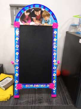 Two sides folding black board for kids with stand