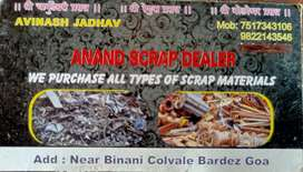 We r taking all type of scrap . Cars bikes. Truck